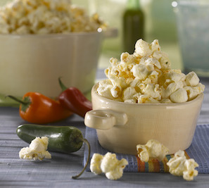 Cheesy Jalapeno Popper Popcorn