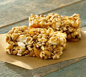 Almond Caramel Popcorn Power Bars