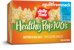 Jolly Time Healthy Pop Butter Microwave Popcorn Mini Bags. 100 calorie popcorn bags equal to 3 Weight Watchers points thumbnail