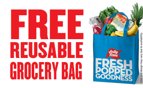 Free reusable grocery bag