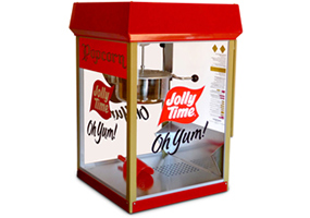 Jolly Time Popcorn Poppers. Commercial popcorn machines for theaters, concessions, professional or home use.
